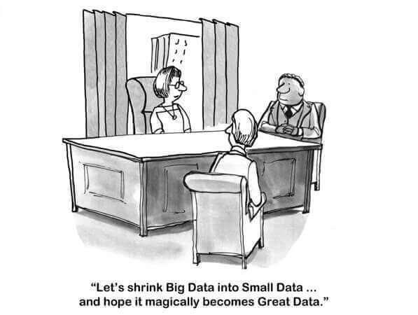 让我们将大数据缩小为小数据...并希望它神奇地成为大数据。